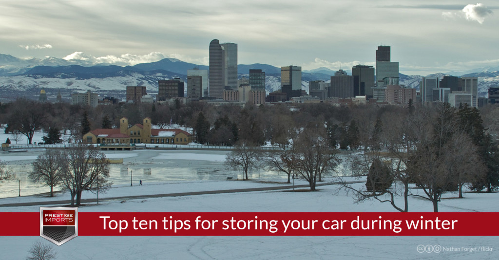 Top ten tips for storing your car during winter