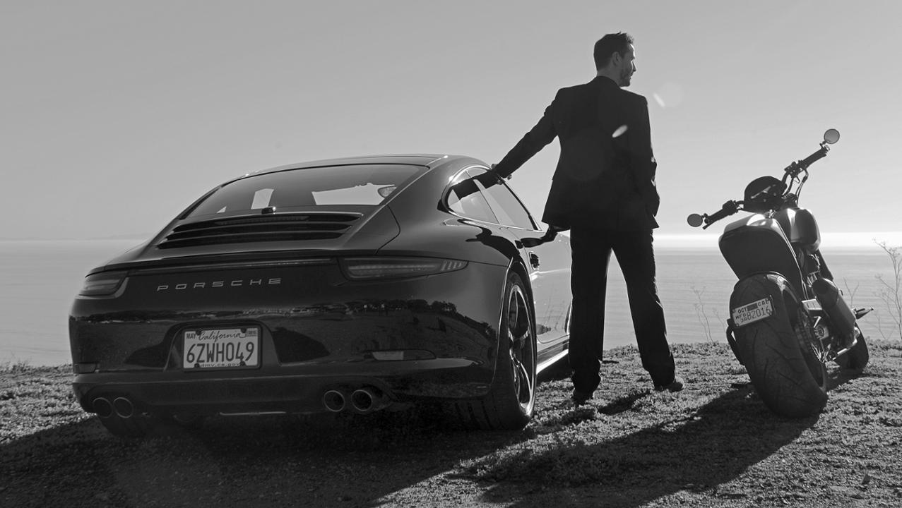 Keanu Reeves and Porsche