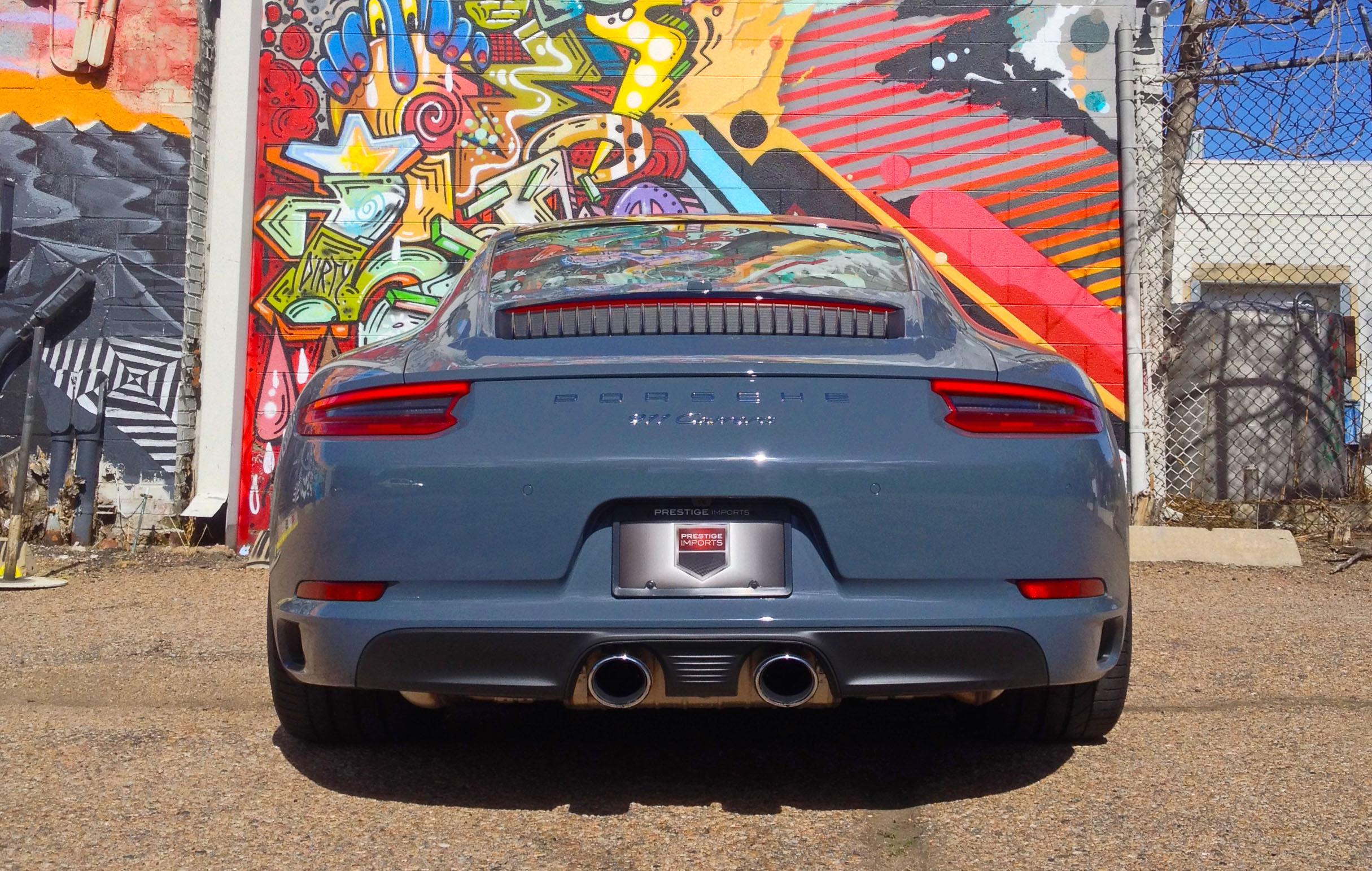 2017 Porsche 911 Carrera review - rear view