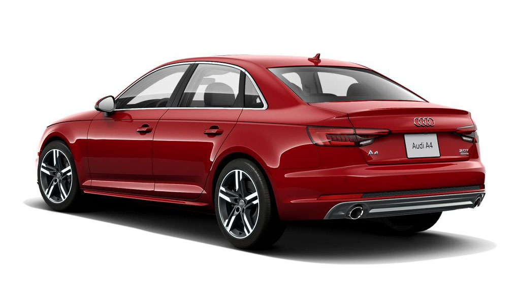 2017 Audi A4 - Rear driver's three-quarter view