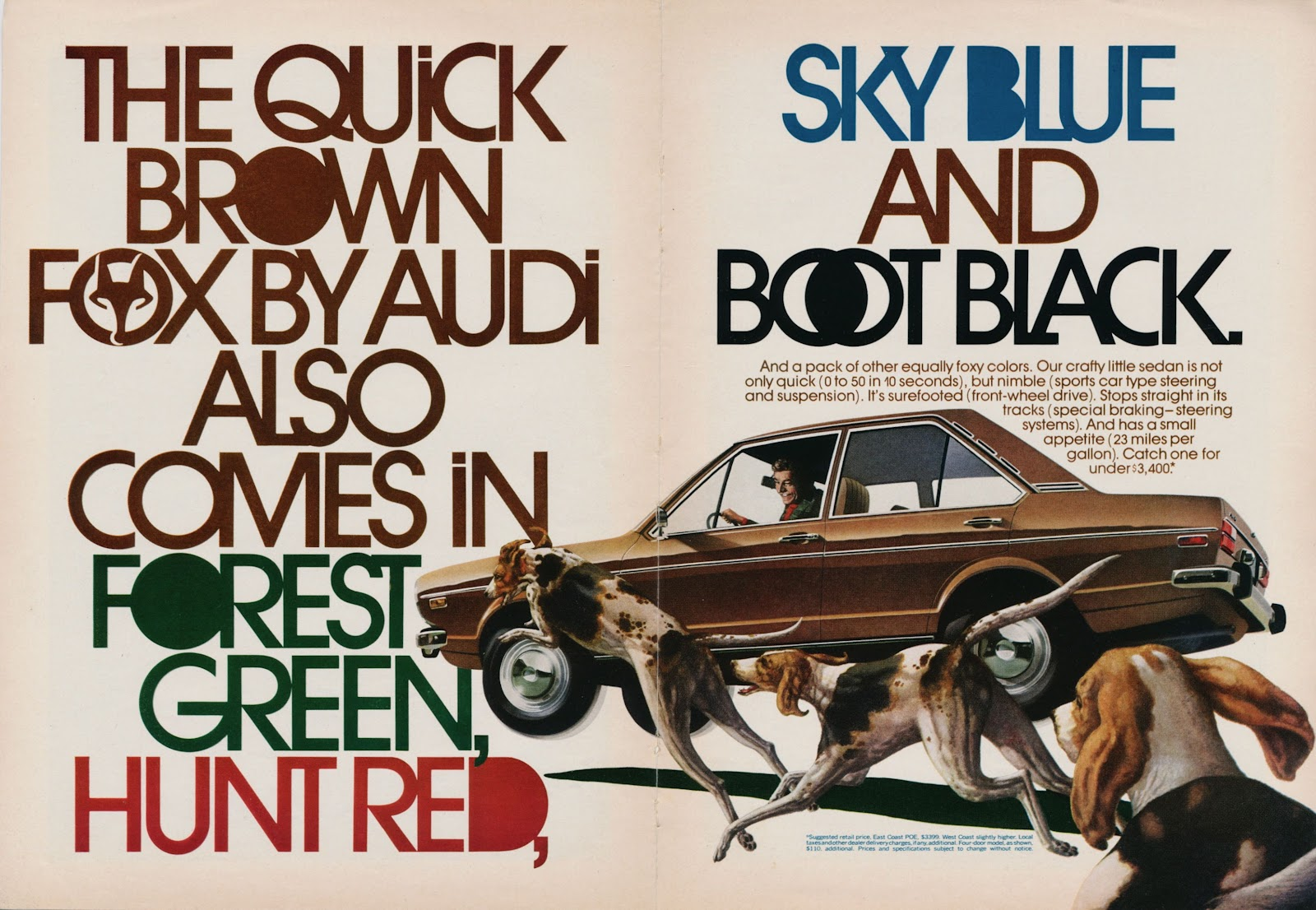 The Quick Brown Fox, a vintage ad by Audi