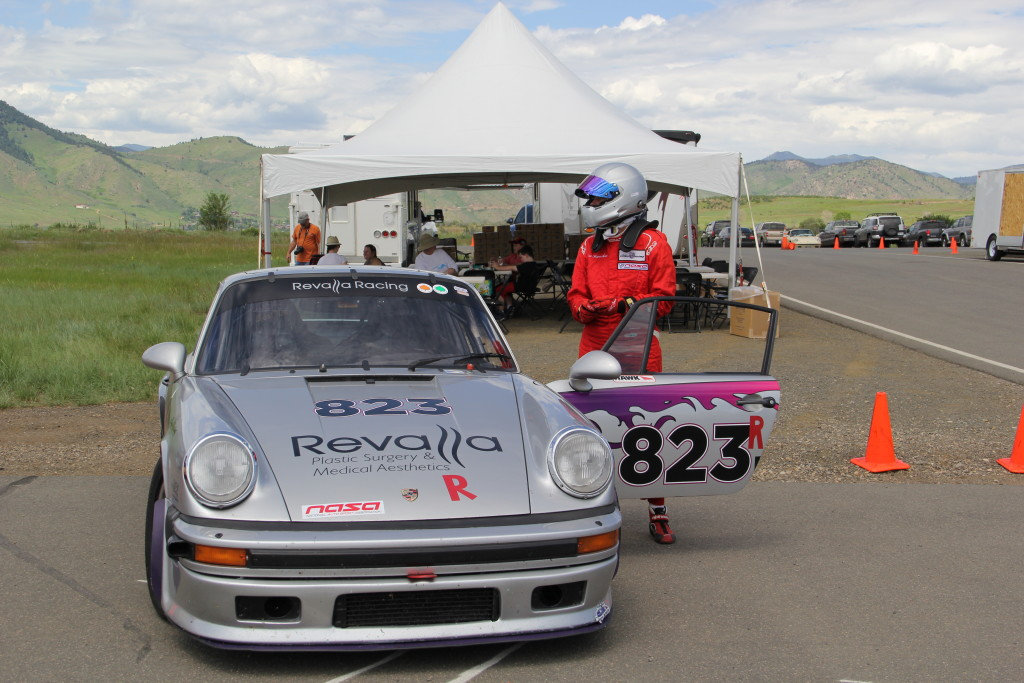 Porsche 911 race car at RMRPCA Ladies Day 2015
