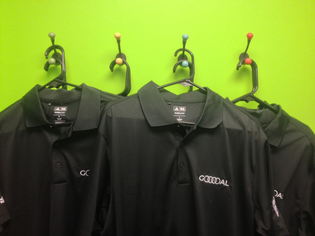 Audi Golf Shirts, found during Prestige Imports spring cleaning.