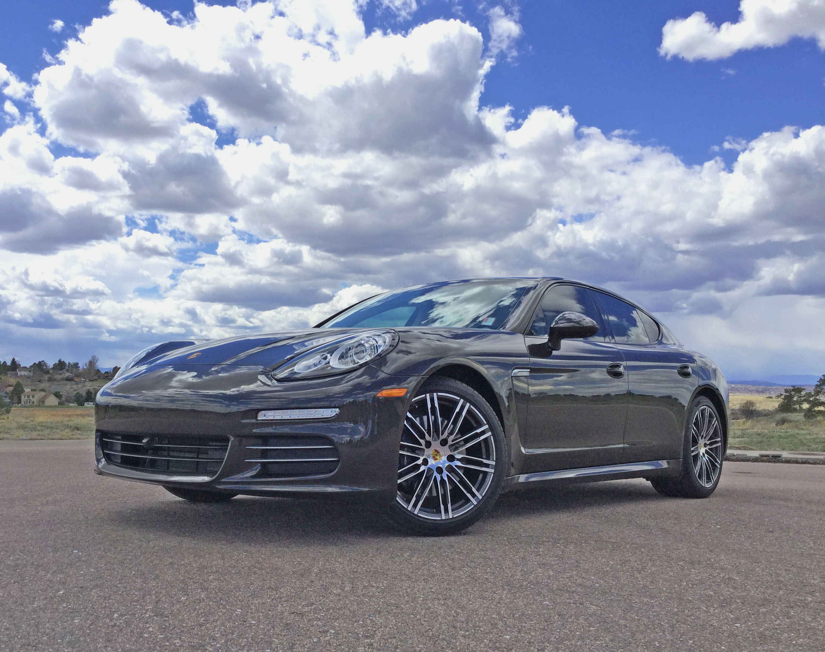 2016 Porsche Panamera 4 and a beautiful Colorado sky.