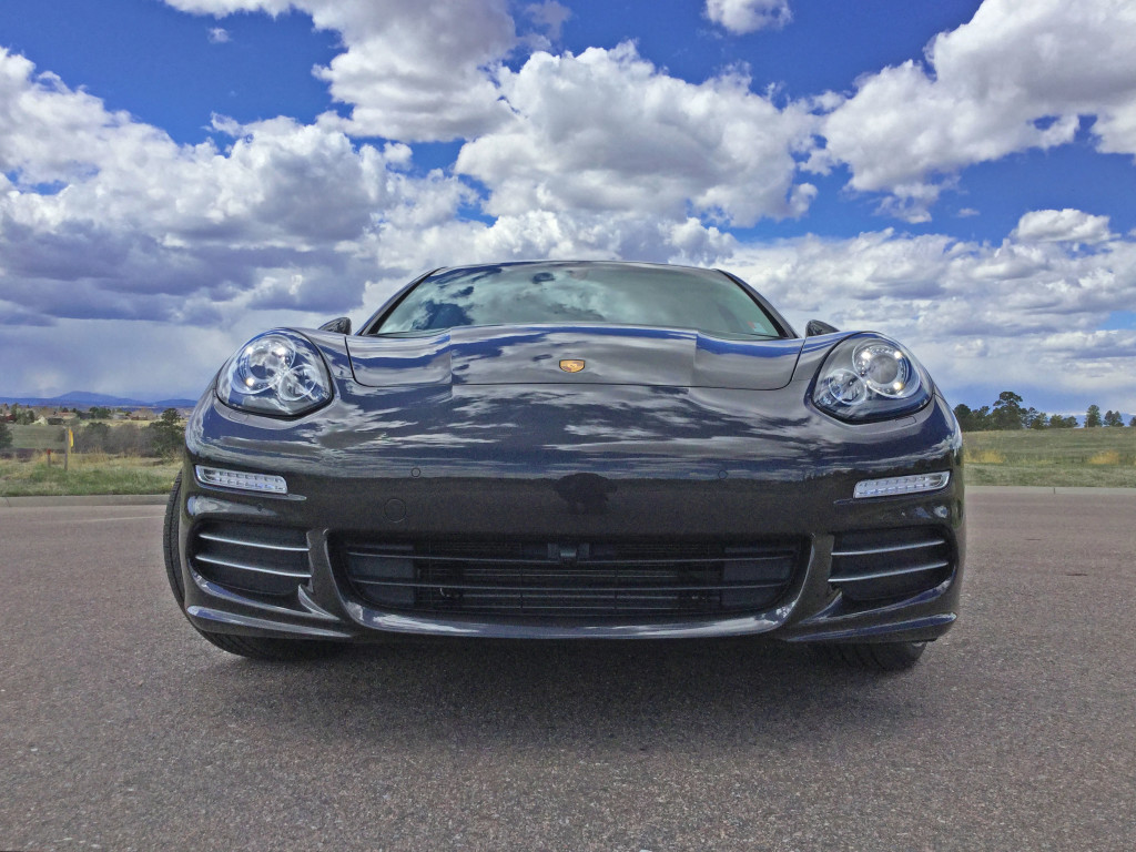 2016 Porsche Panamera 4 with the beautiful Colorado sky reflected in the hood