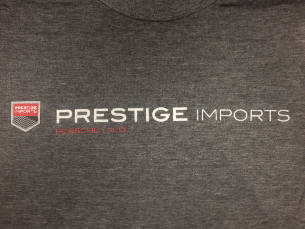 Prestige Imports T-Shirt found during or spring cleaning campaign