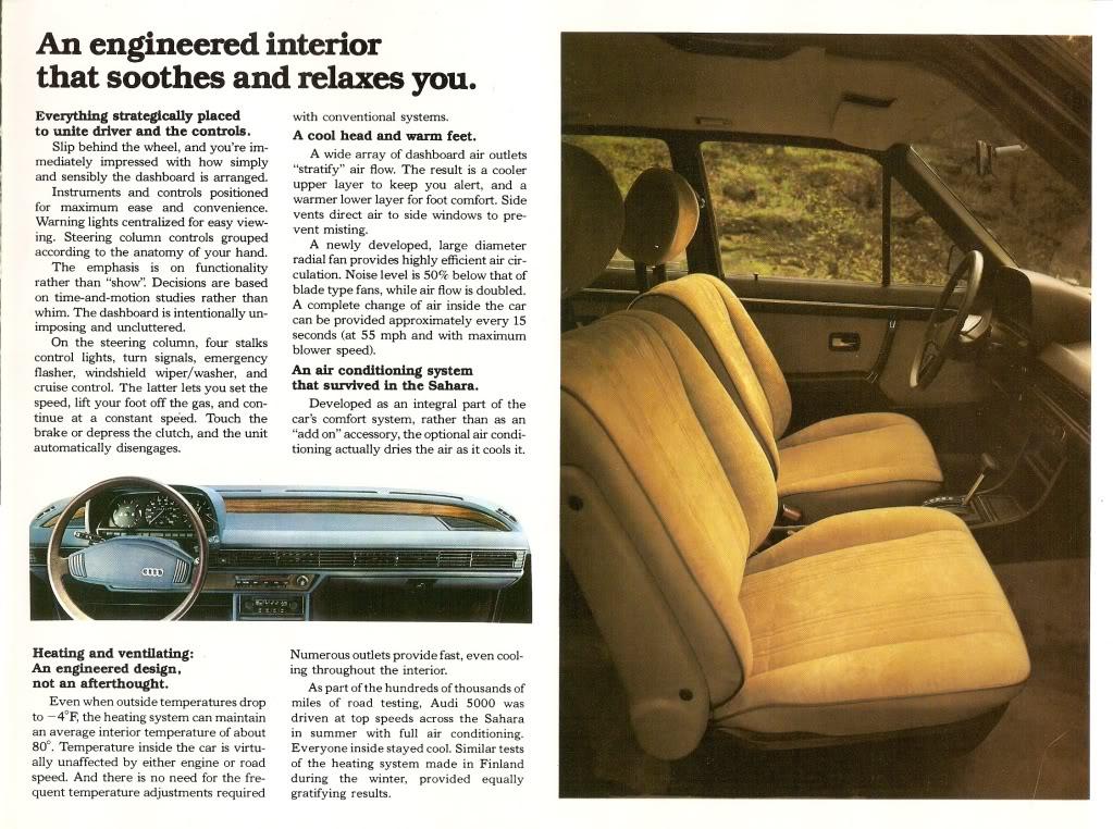 Audi 5000 Text heavy vintage print ad