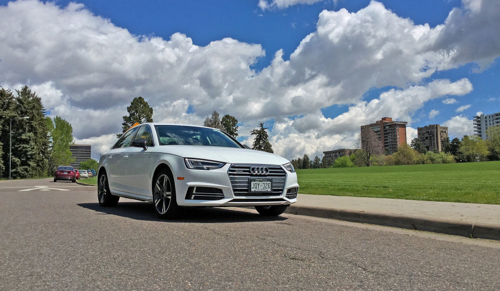 The all new 2017 Audi A4 and a beautiful Colorado sky in Denver's Cheesman Park neighborhood