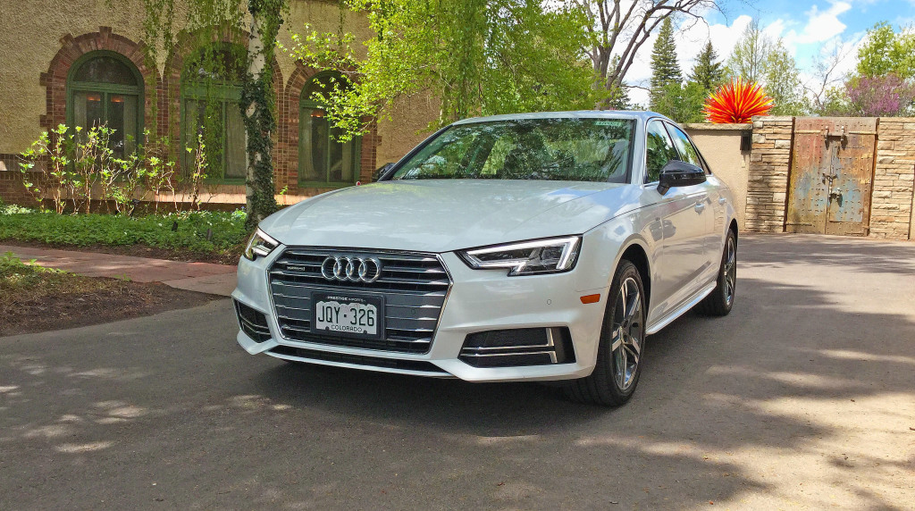 The all new 2017 Audi A4 parked in Denver's Cheesman Park neighborhood