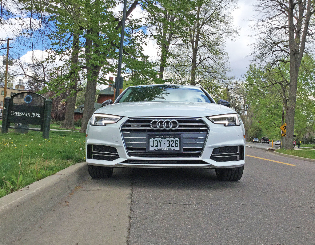 The all new 2017 Audi A4 at Cheesman Park in Denver, CO