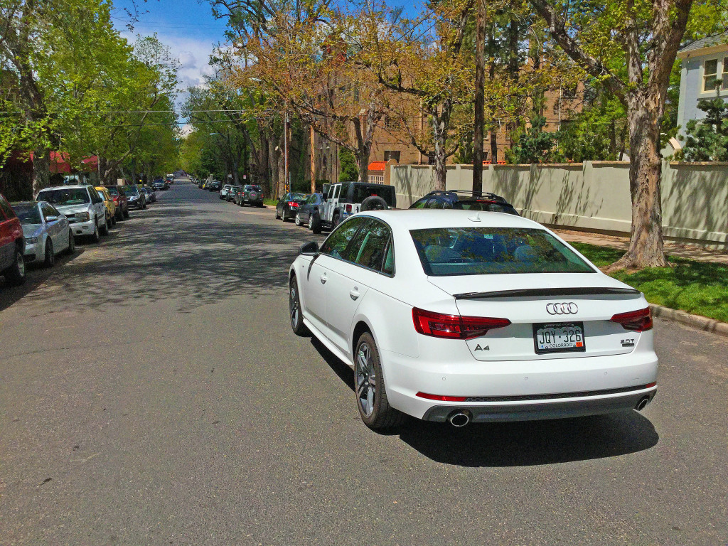 The all new 2017 Audi A4 in the Cheesman Park neighborhood of Denver, CO
