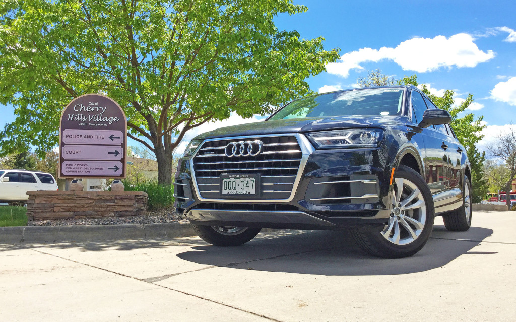 The Audi Q7 parked in front of the Cherry Hills Court House in Cherry Hills Village, CO