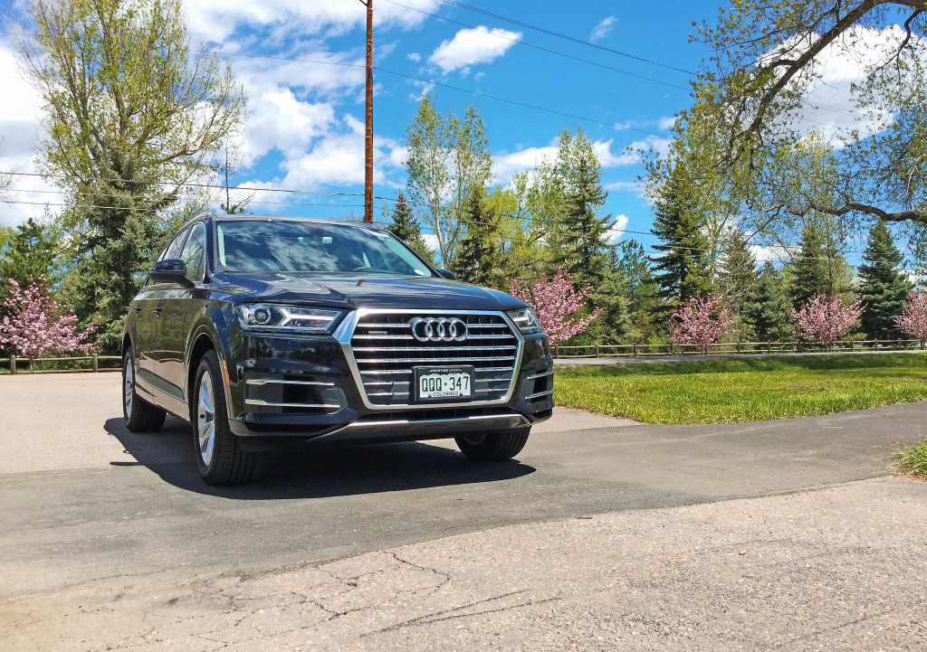 The Audi Q7 parked near Kent Denver School in Cherry Hills Village, Colorado