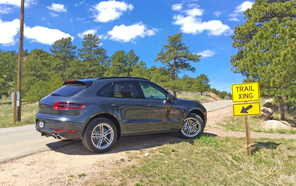 2017 Porsche Macan S Review - The Porsche Macan parked next to a trail crossing in White Ranch Park, Jefferson County, Colorado