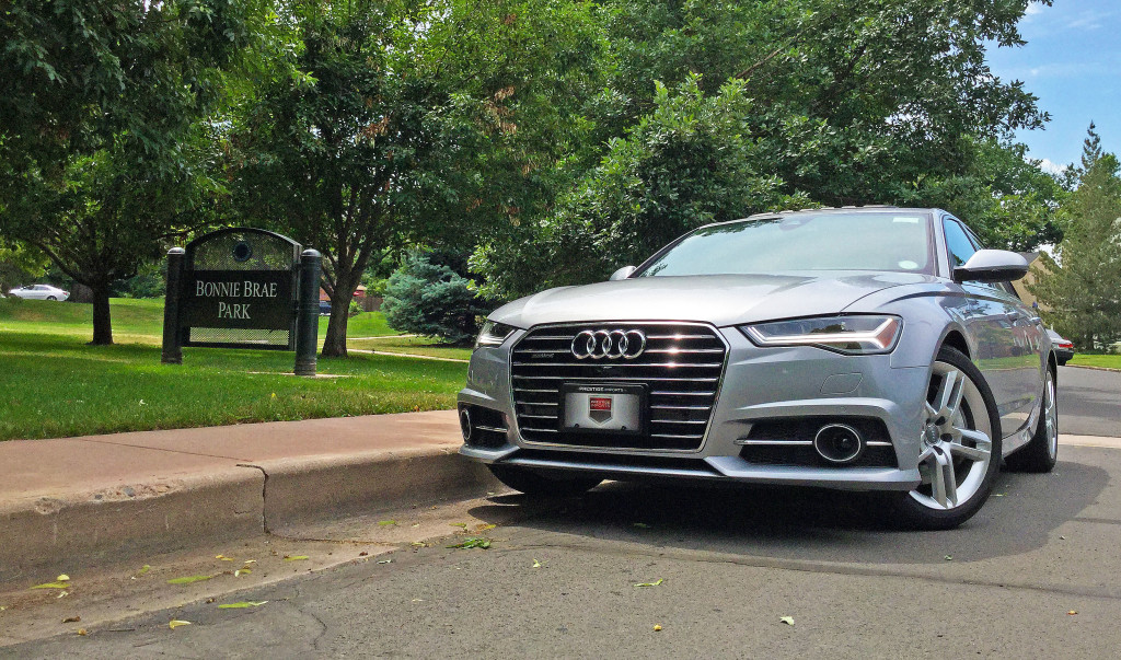The 2016 Audi A6 parked near Bonnie Brae Park on South Ellipsis Way in the Belcaro Neighborhood of Denver, CO.