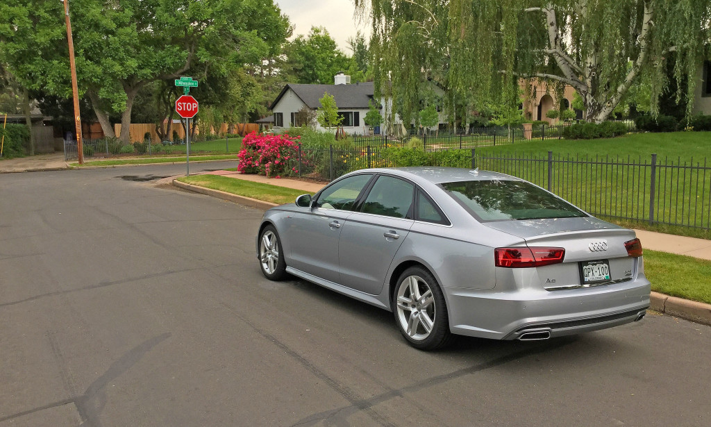 The 2016 Audi A6 near the intersection of South Milwaukee and Ohm Way in Denver's Belcaro Neighborhood