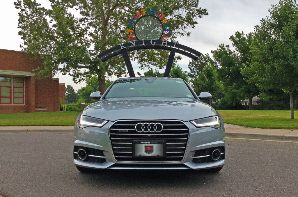 Front view of the 2016 Audi A6 at the Knight Center in Denver's Belcaro Neighborhood