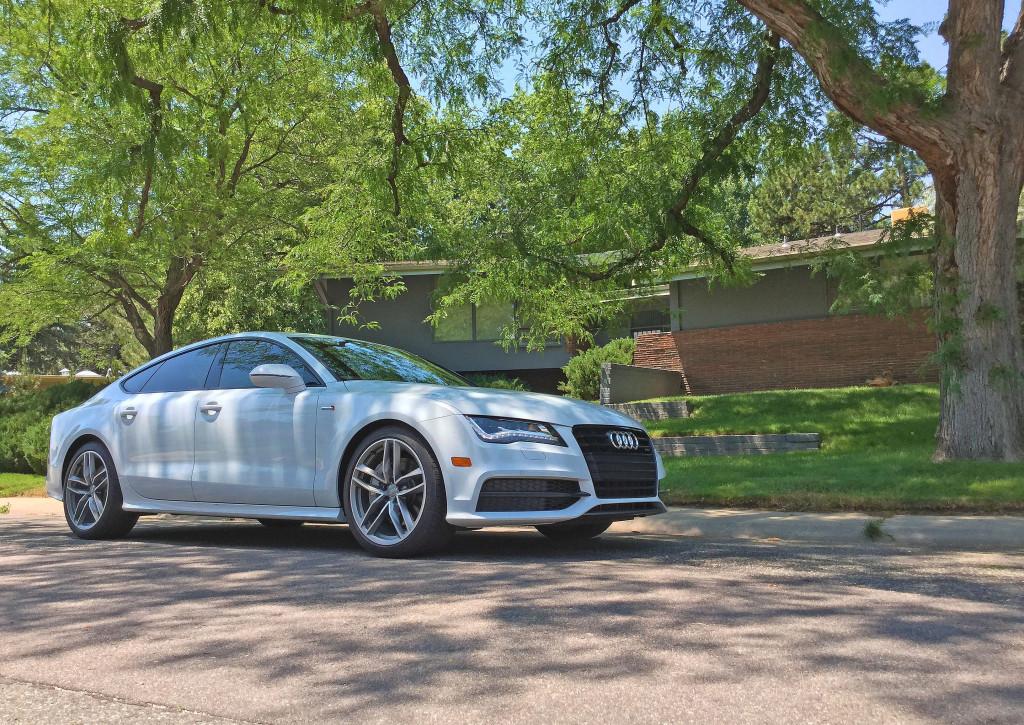 2016 Audi A7 parked outside of the Amter Residence in Denver's Hilltop neighborhood