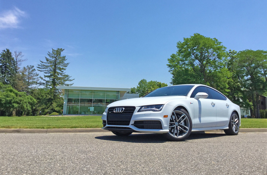 The 2016 Audi A7 parked in front of the historic Cranmer House in Denver's Hilltop neighborhood