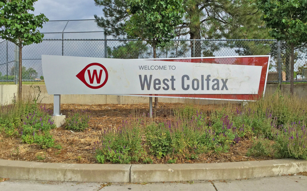 West Colfax Sign at Irving Street in Denver, CO