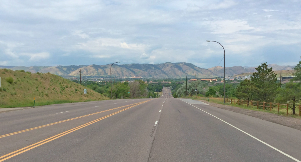 A view of the Foothills near Abbie Duston Roadside Park on West Colfax in Lakewood, CO