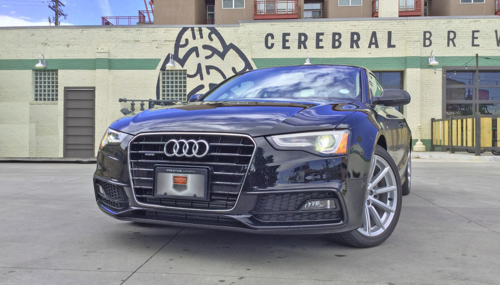 The 2016 Audi A5 in front of Cerebral Brewery in the Congress Park neighborhood of Denver, CO