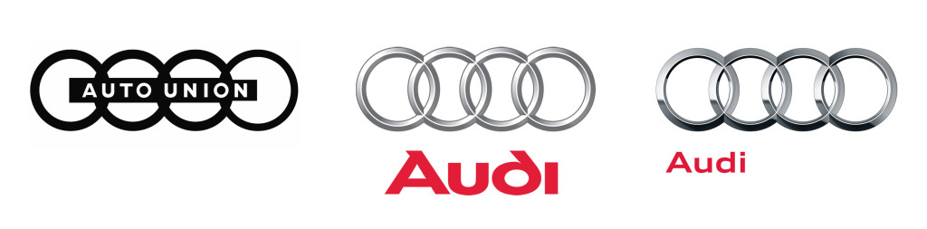 1949-2009 Audi Logos - The progression of the Audi Rings