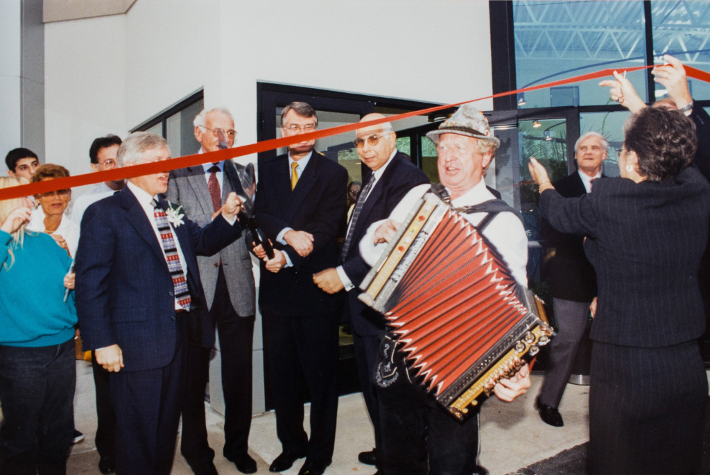 Historical Photo (1998) at Oktoberfest and the grand re-opening of Prestige Imports, a Denver Porsche and Audi Dealer.