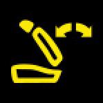 Audi Dashboard Warning Lights - Backrest - Yellow