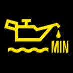 Audi Dashboard Warning Lights - Engine oil level - MIN - Yellow