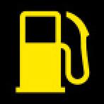 Audi Dashboard Warning Lights - Tank system - Yellow
