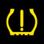 Audi Dashboard Warning Lights - Tire Pressure - Yellow