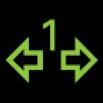 Audi Dashboard Warning Lights - Trailer turn signals - Green