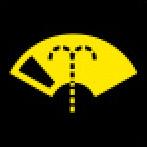 Audi Dashboard Warning Lights - Washer fluid level - Yellow