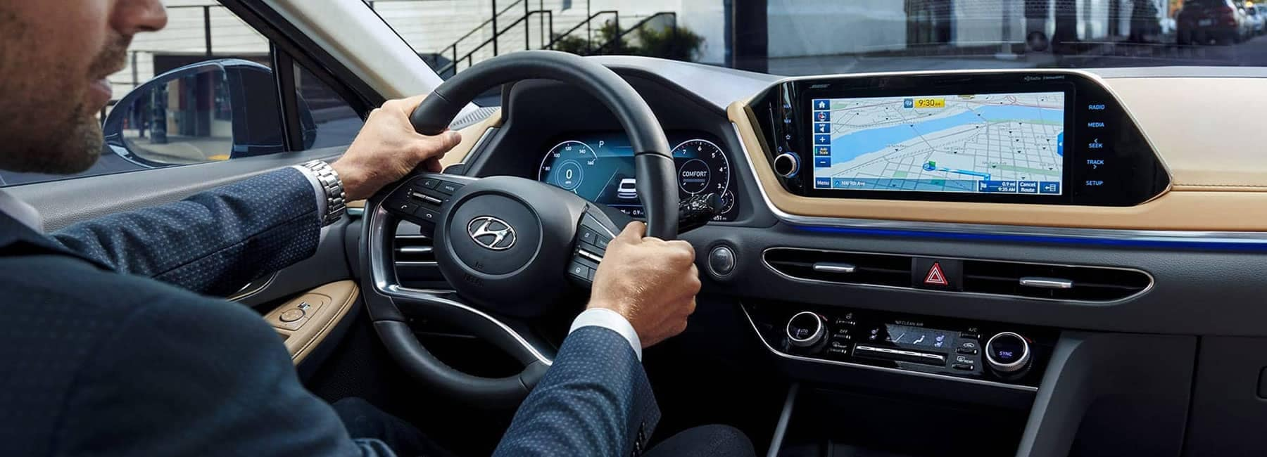 Interior Dashboard of a 2020 Sonata