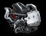 The brand new LT2 V8 power plant for the C8 Corvette