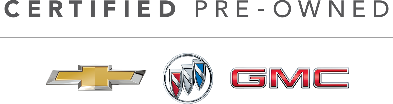 Chevy Buick GMC logo with a Certified Pre Owned Text