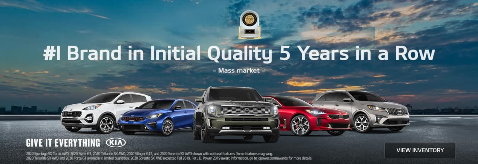 Kia is the #1 Brand in Initial Quality 5 Years in a Row