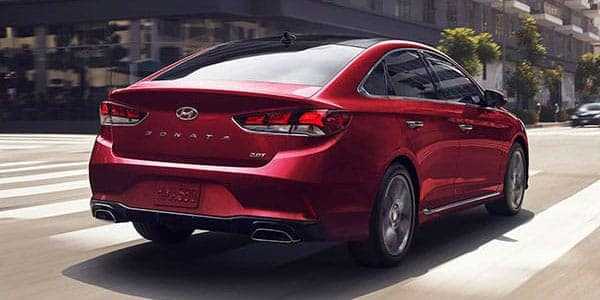 Angled view of the back of a Sonata