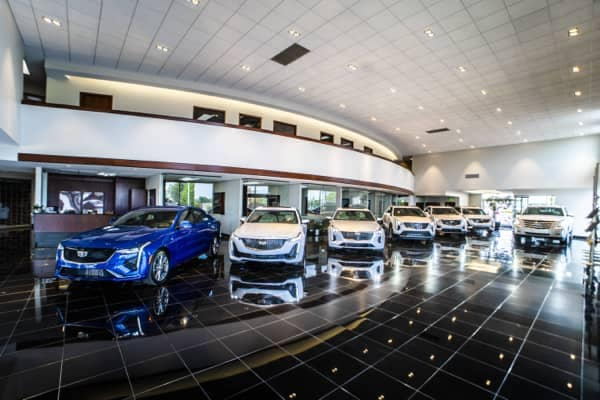 Five Star Care Images - Experience Image - The new Cadillac lineup displayed in the dealership