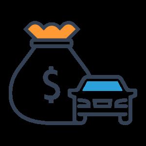 Renaissance ToGo Step 4 - Apply for Financing - car and money bag illustration