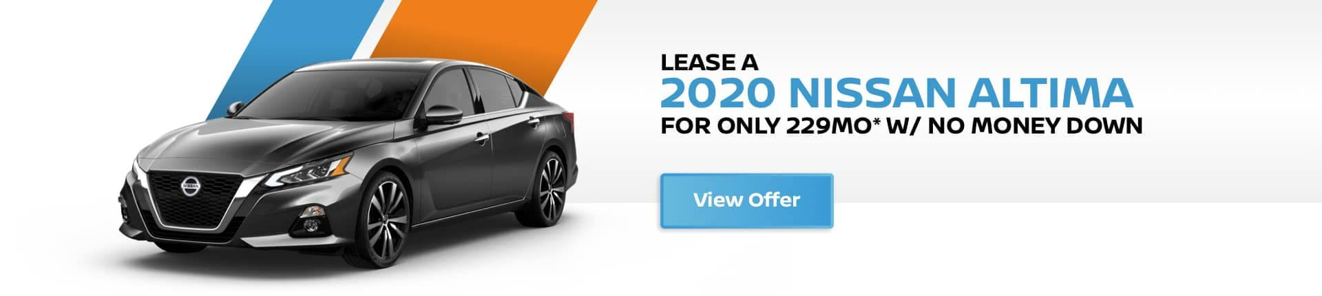 lease a 2020 nissan altima for $229 per month no money down
