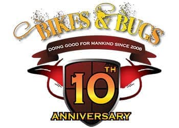 Bikes and Bugs 10th anniversary logo
