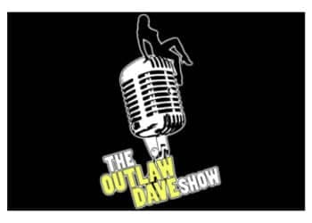 Outlaw Dave logo with microphone