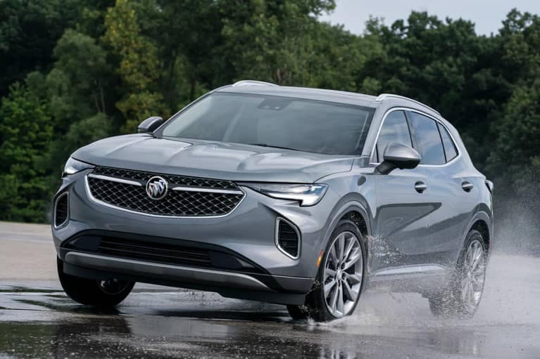 2021 Buick Envision driving on a wet road_mobile
