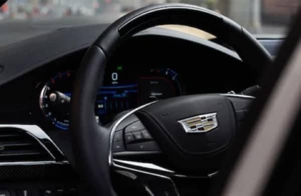 2020 Cadillac CT6 - Interior shot of steering wheel
