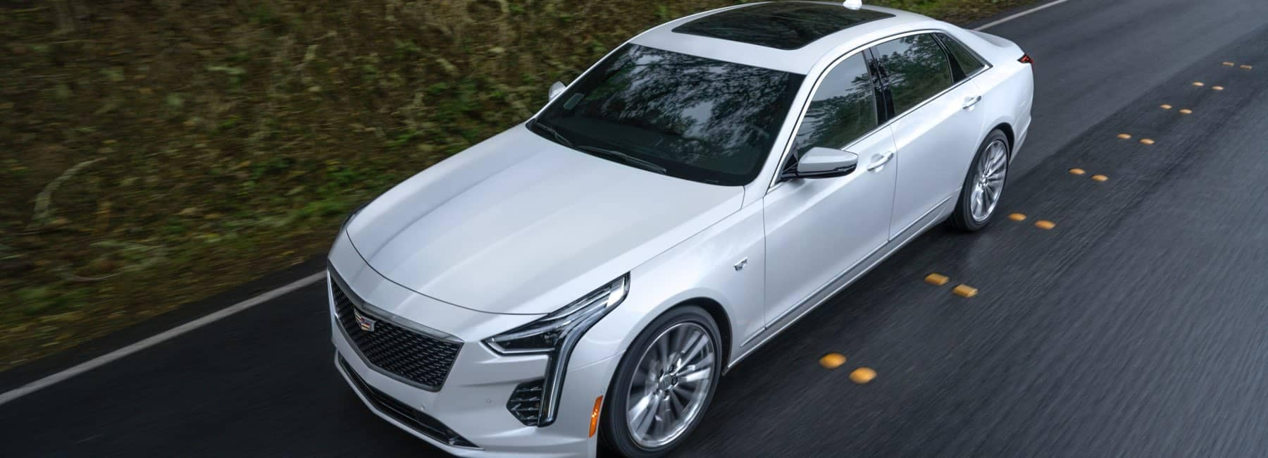 2020 Cadillac CT6 driving down country road