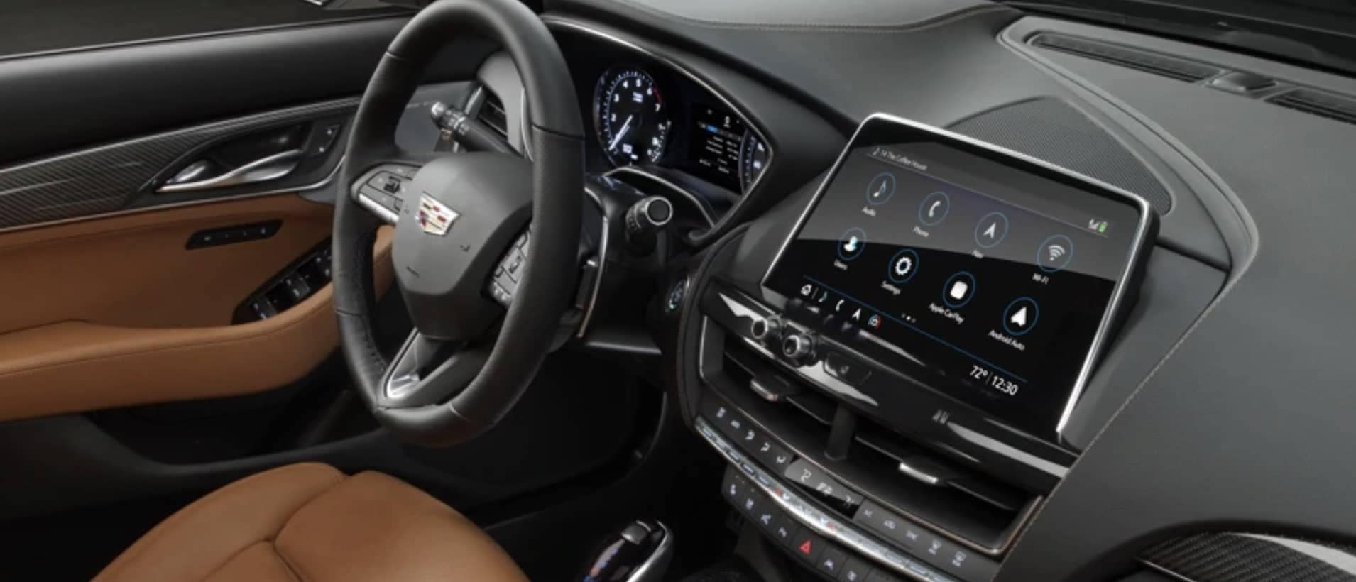 View of the cadillac dashboard