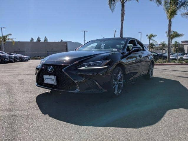 lexus in the parking lot of the dealership