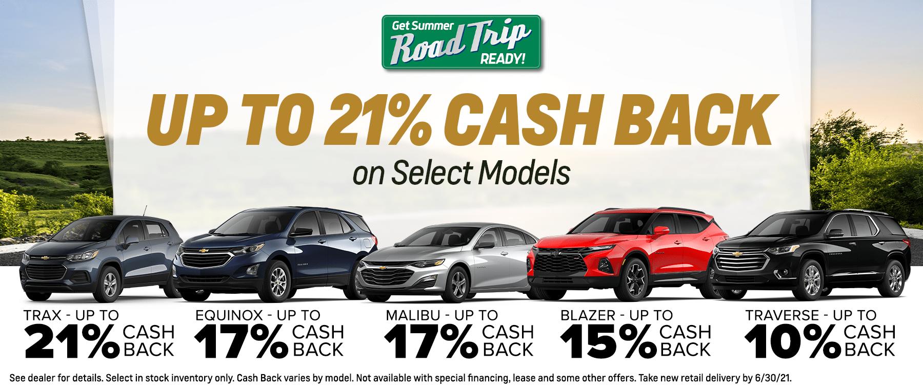 Up to 21% Cash Back